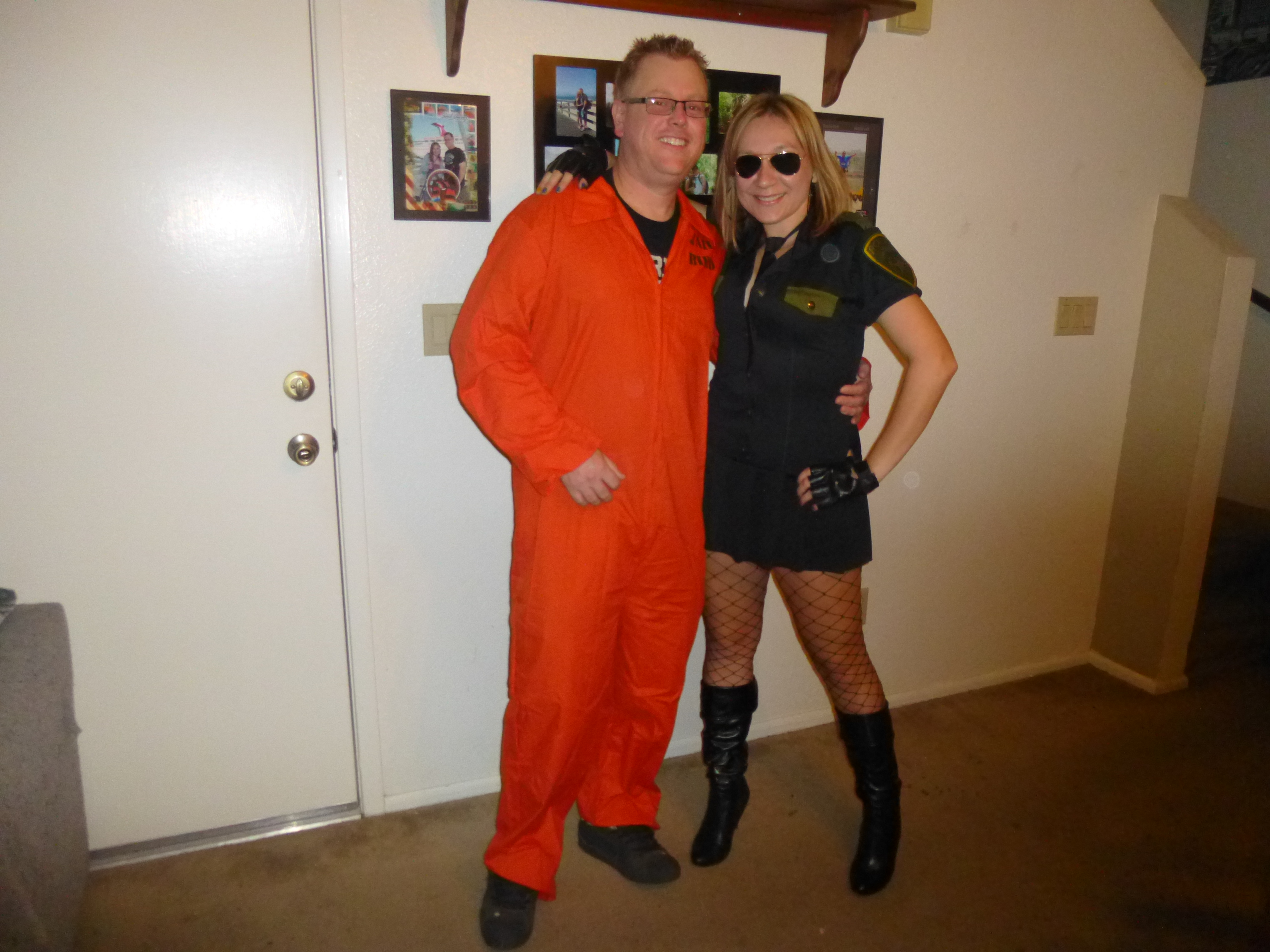 Craig and I went as cop and inmate. This costume is actually from 2008 we just didnu0027t feel like spending a ton of money and time on a costume this year. it ... & Happyu2026 « Unstoppable